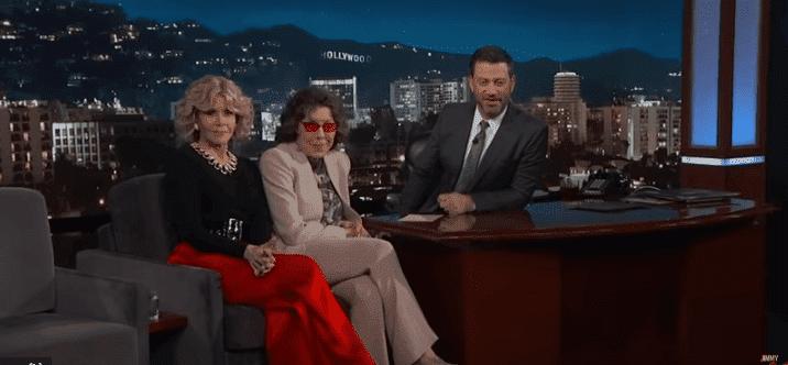 Jane Fonda, Lily Tomlin with Jimmy Kimmel on 'Jimmy Kimmel Live' | Image: YouTube/Jimmy Kimmel Live
