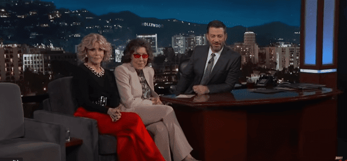 Jane Fonda, Lily Tomlin with Jimmy Kimmel on 'Jimmy Kimmel Live' | Image: YouTube/Jimmy Kimmel Live