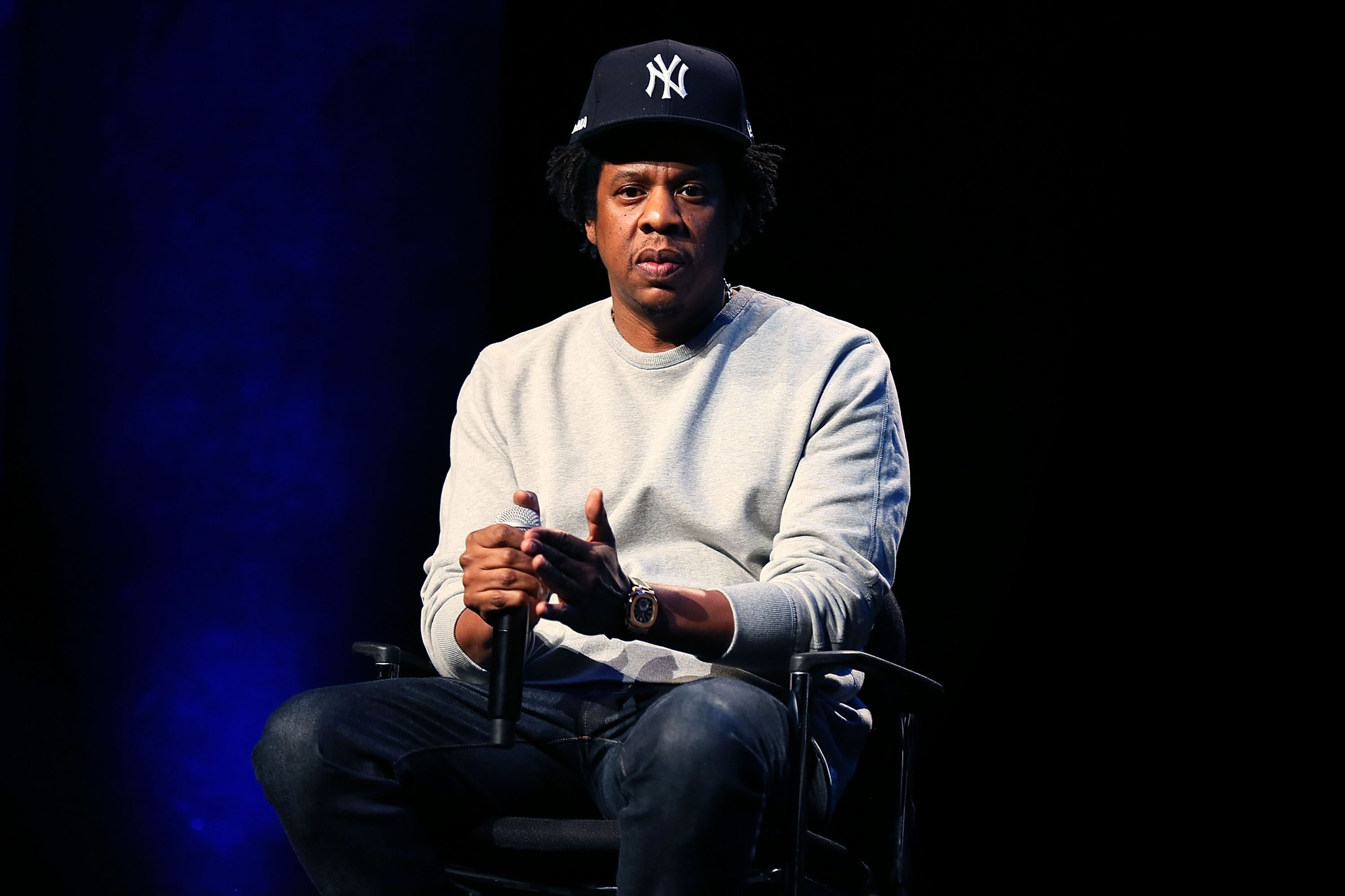 Jay-Z at a speaking engagement | Source: Getty Images/GlobalImagesUkraine
