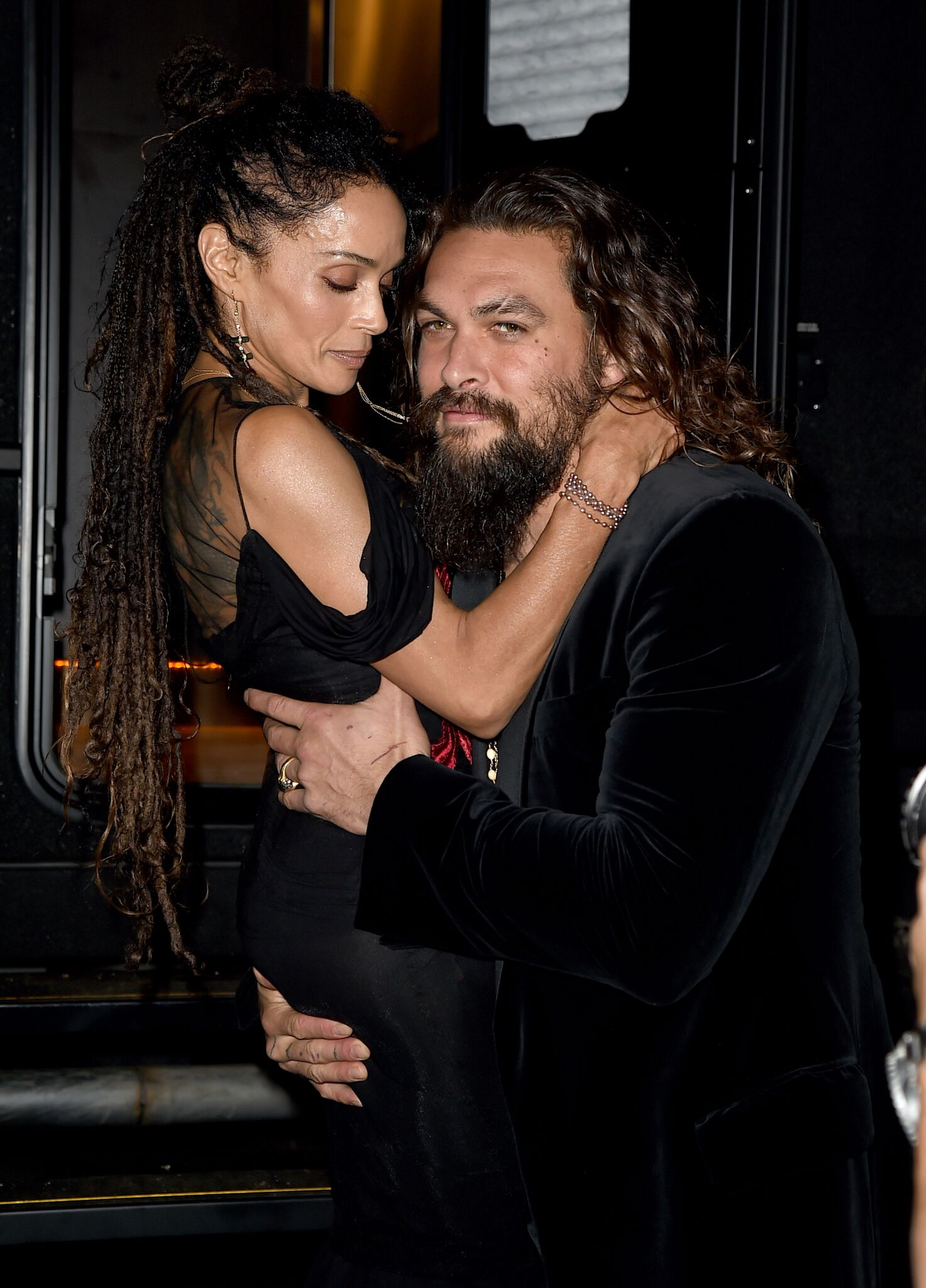 """Lisa Bonet (L) and Jason Momoa attend the premiere of Warner Bros. Pictures' """"Aquaman"""" 