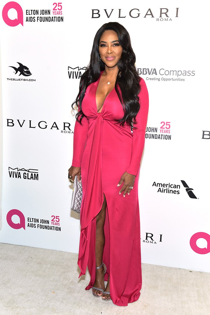 Kenya Moore attends the 26th annual Elton John AIDS Foundation's Academy Awards Viewing Party at The City of West Hollywood Park on March 4, 2018 in West Hollywood, California. I Image: Getty Images.