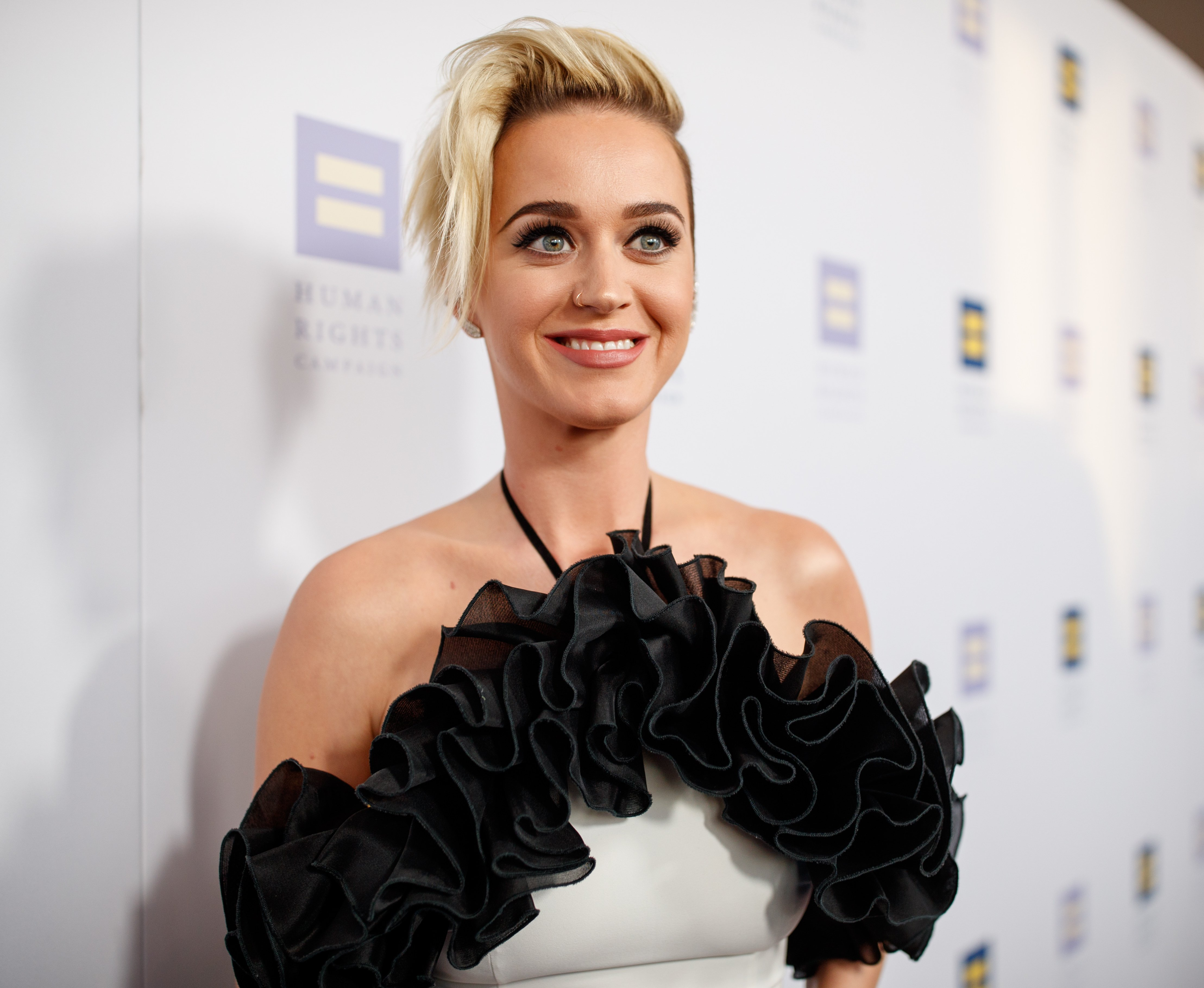 Pop singer Katy Perry attends the 2017 Human Rights Gala in Los Angeles. | Photo: Getty Images