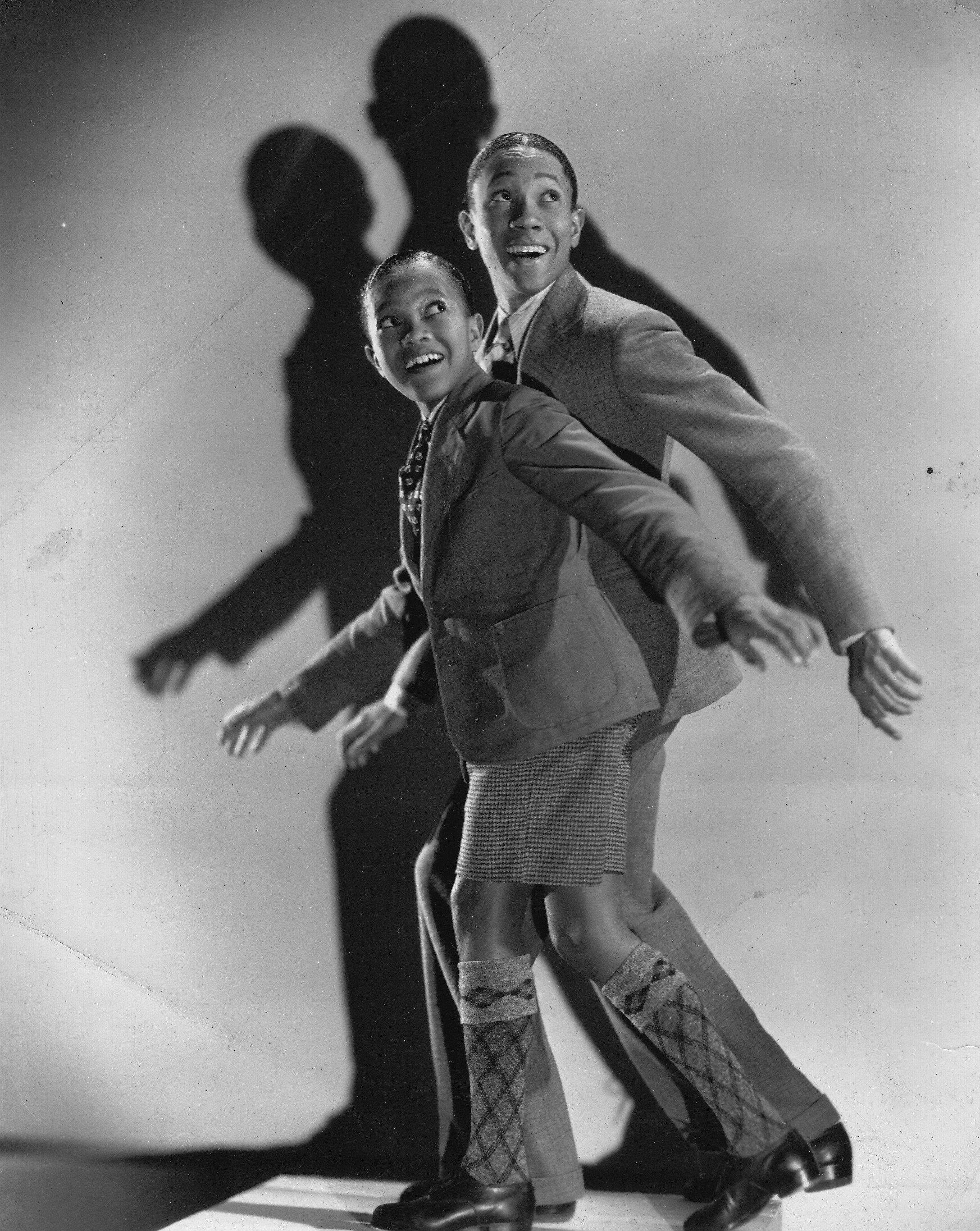 """Dancers Harold Nicholas and Fayard Nicholas, The Nicholas Brothers, in a still from the film """"Big Broadcast of 1935"""" 