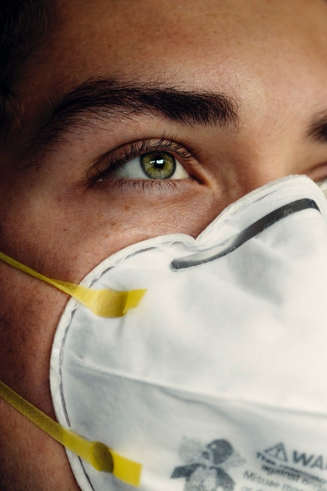 Photo of someone wearing a face mask   Photo: Pexels