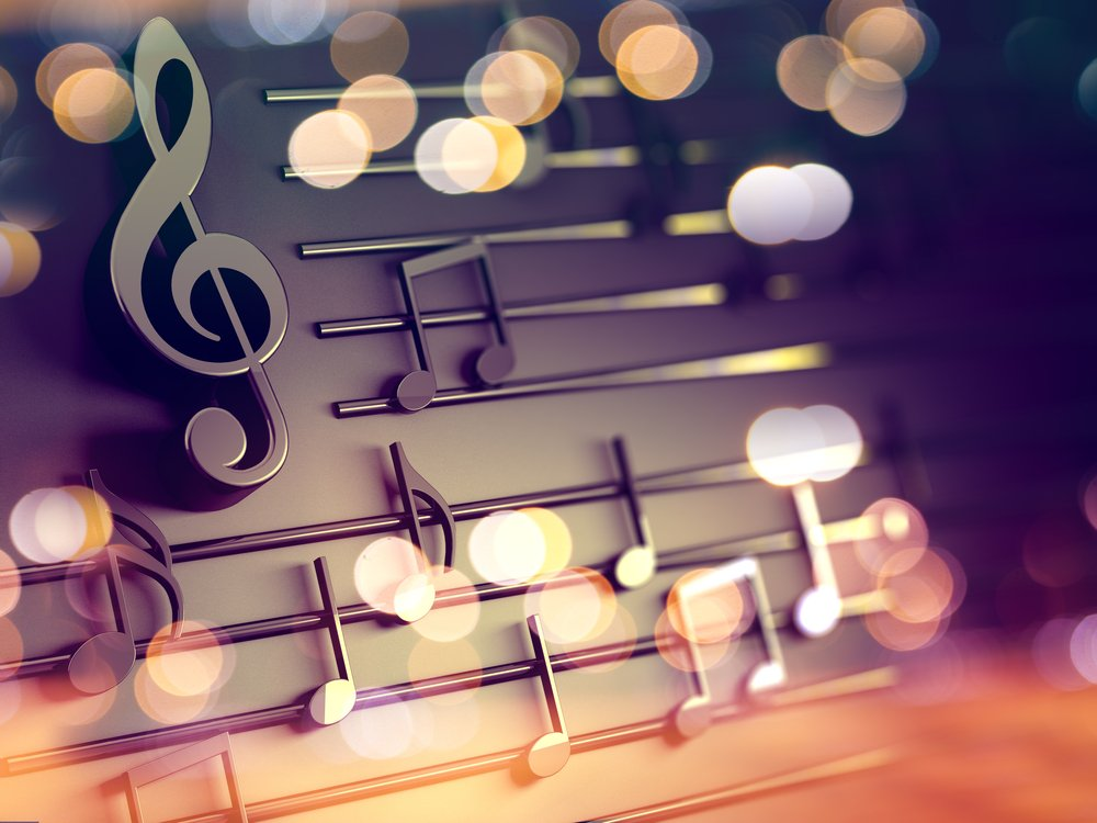 A 3d illustration of musical notes and musical signs of abstract music sheet | Photo: Shutterstock