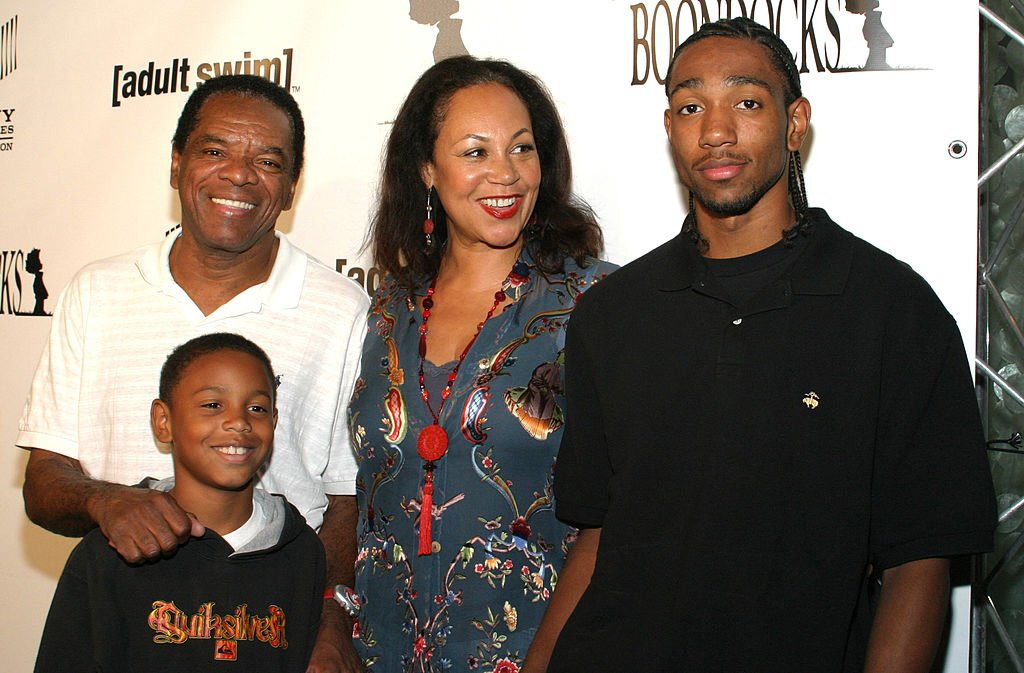 """John Witherspoon, Alexander Witherspoon, Angela Witherspoon and John David Witherspoon at """"The Boondocks"""" Los Angeles Series Launch Party on November 01, 2005.   Photo: Getty Images"""