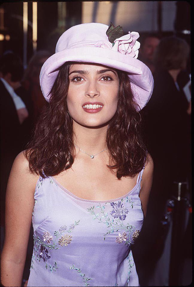 """Salma Hayek during the """"Ever After"""" Los Angeles Premiere in Beverly Hills, California, on July 29, 1998   Photo: SGranitz/WireImage/Getty Images"""