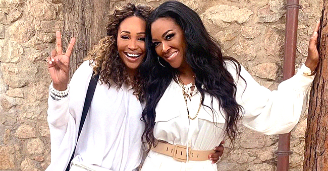 Kenya Moore and Cynthia Bailey of RHOA Photographed with Baby Brooklyn in an Adorable Picture