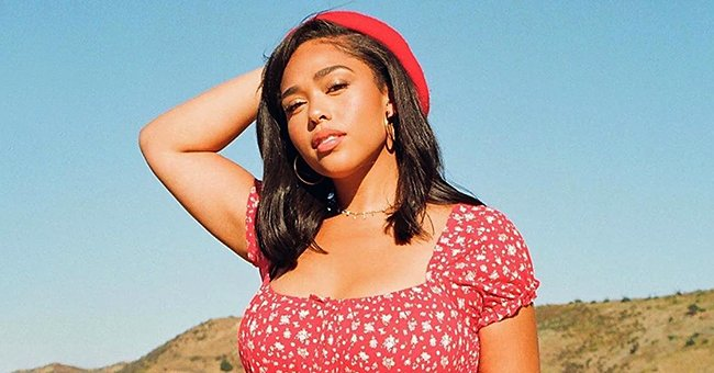 Jordyn Woods Gets in on the Floral Summer Trend by Wearing a Red Fitted Mini Dress