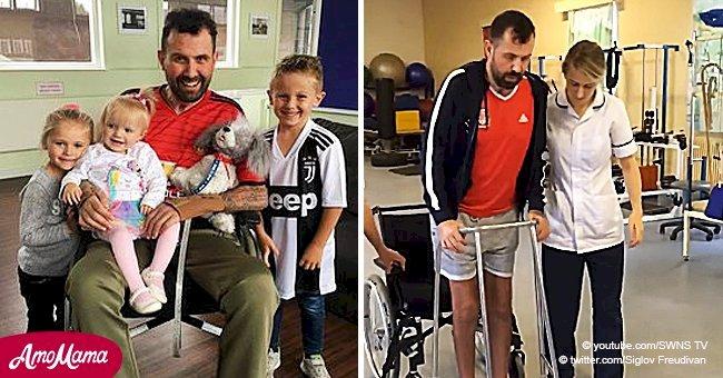 Un père de trois enfants a été paralysé pendant 8 mois après avoir mangé du poulet au curry