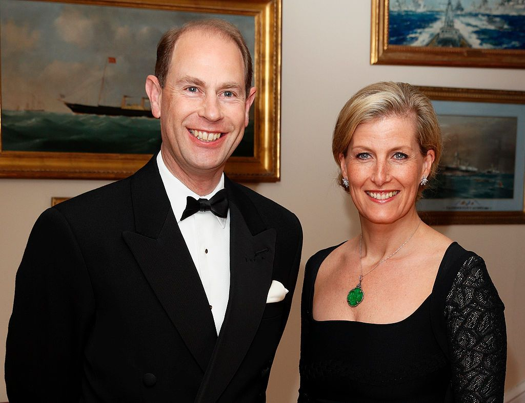 Prince Edward, Earl of Wessex & Sophie, Countess of Wessex at a gala fundraising dinner, in aid of the Newport Minster Renewal Appeal, at the Royal Yacht Squadron during a day of engagements on the Isle of Wight on March 27, 2014 | Photo: Getty Images