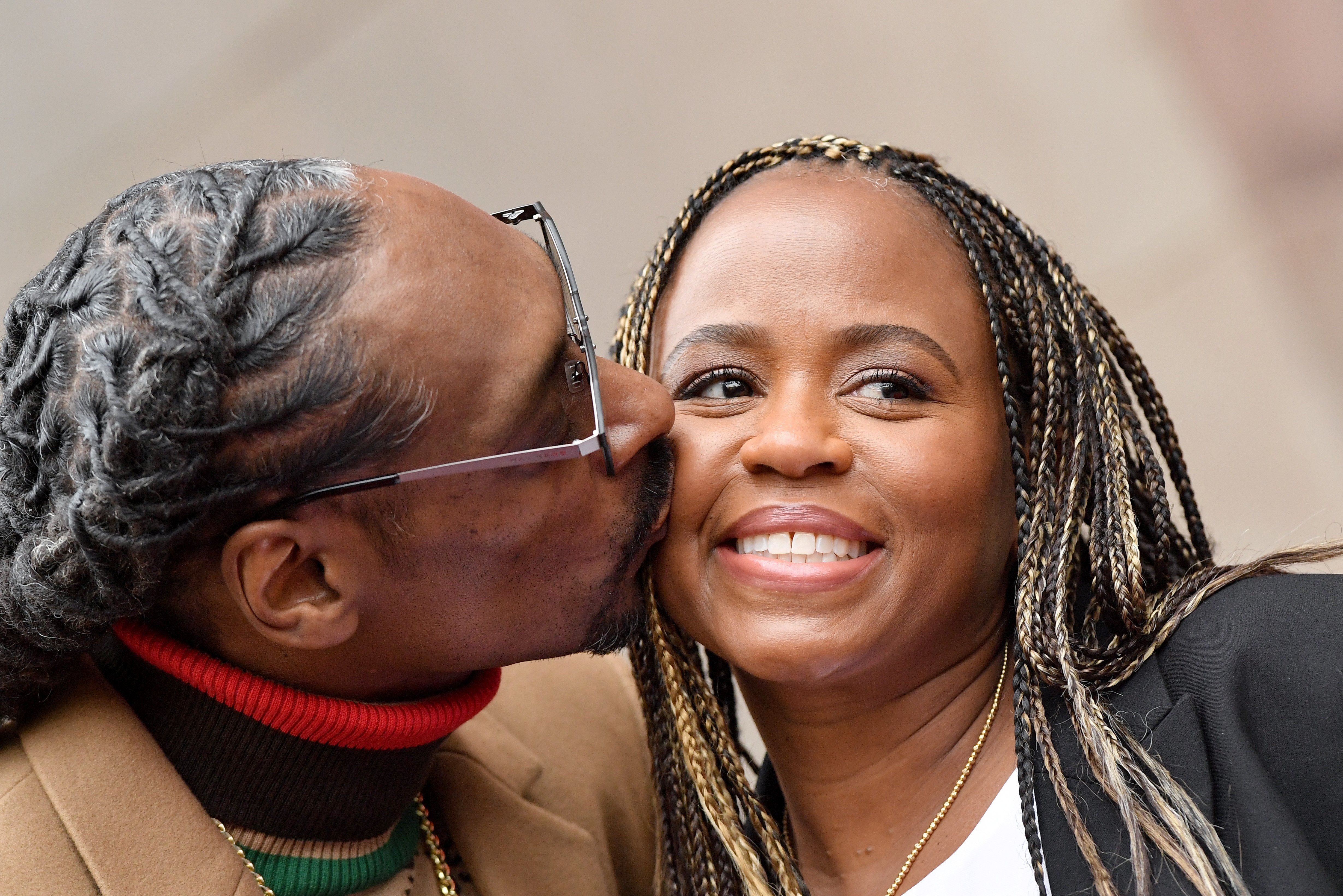 Snoop Dogg and Shante Broadus at a ceremony honoring Snoop Dogg with a star on the Hollywood Walk of Fame on November 19, 2018 in Hollywood, California.| Source: Getty Images
