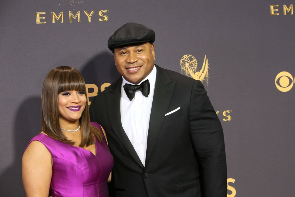 Simone Smith and actor LL Cool J at the 69th Annual Primetime Emmy Awards. | Source: Getty Images