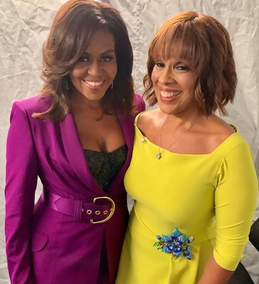 Michelle Obama and Gayle King/ Source: Instagram/ Gayle King