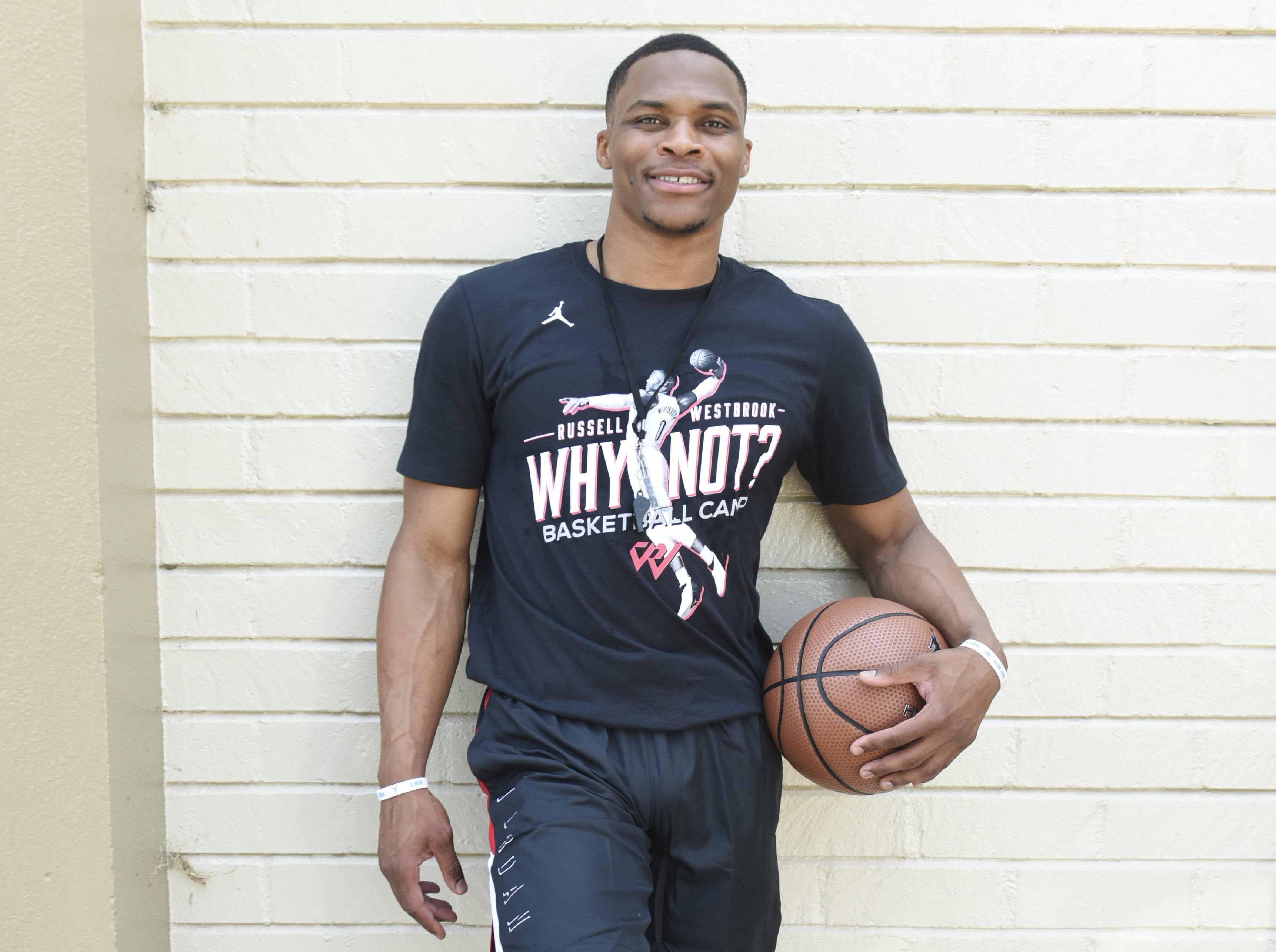 Russell Westbrook attends the 6th Annual Russell Westbrook Why Not? Basketball Camp on August 2, 2018, in Los Angeles, California.   Source: Getty Images.
