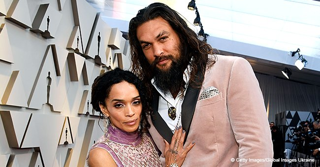 Jason Momoa and His Wife Lisa Bonet Turned Heads in Matching Blush Pink Outfits at 2019 Oscars