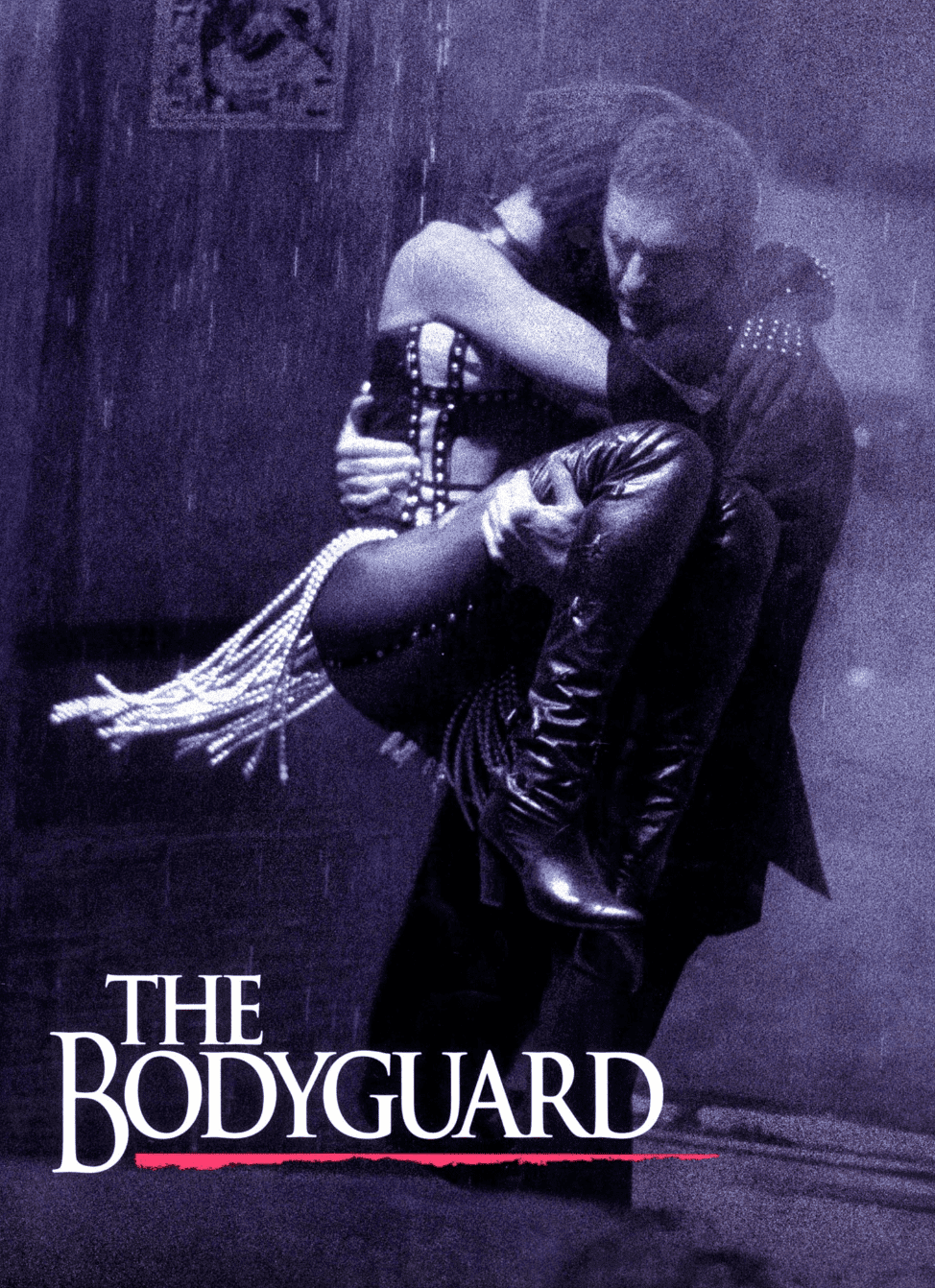 """The iconic poster of the movie """"The Bodyguard"""". 