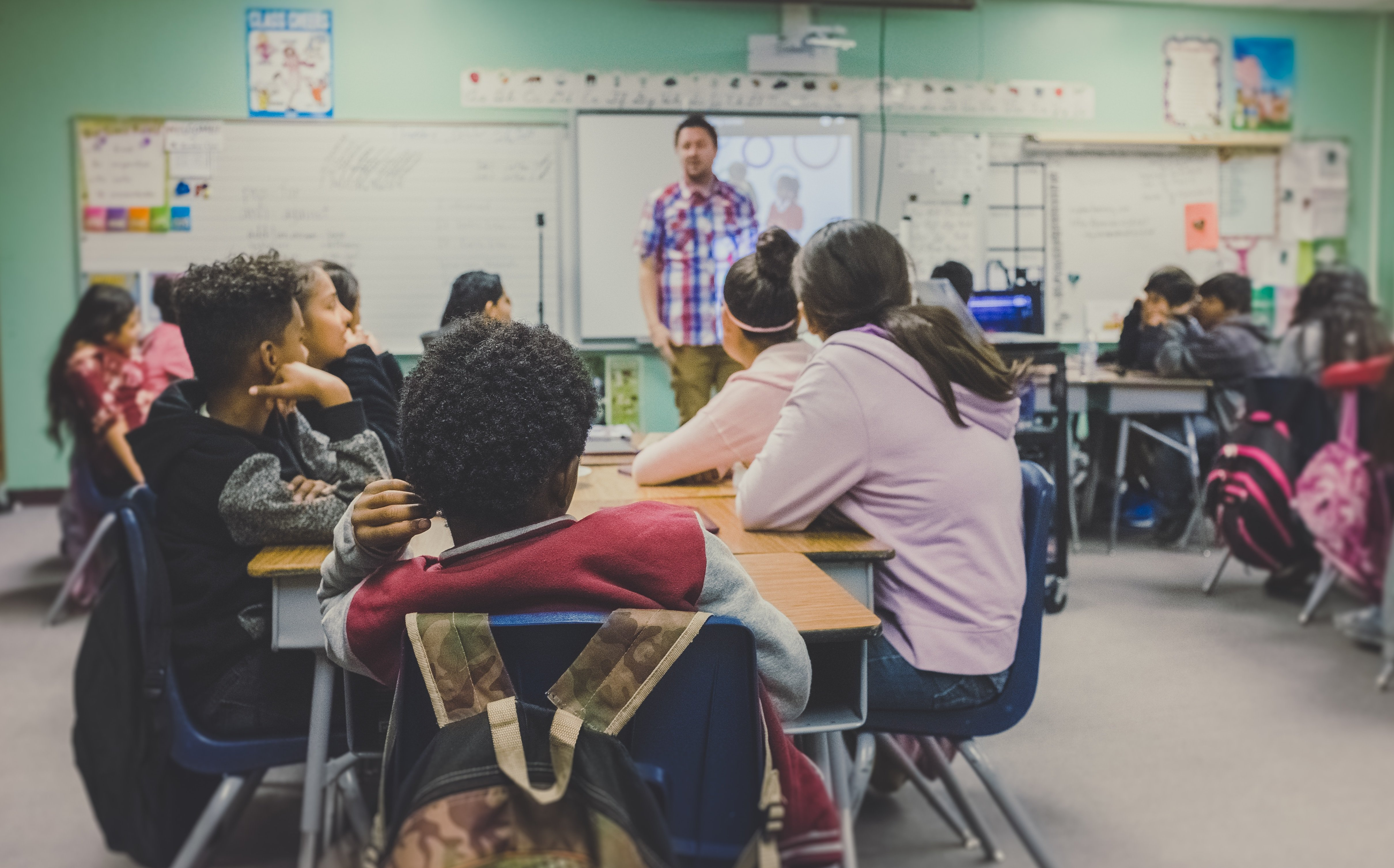 A class room full of students. | Source: Unsplash