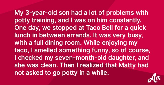 Joke: Mother Worries That Her 3-Year-Old Son Has Had an Accident in a Busy Restaurant
