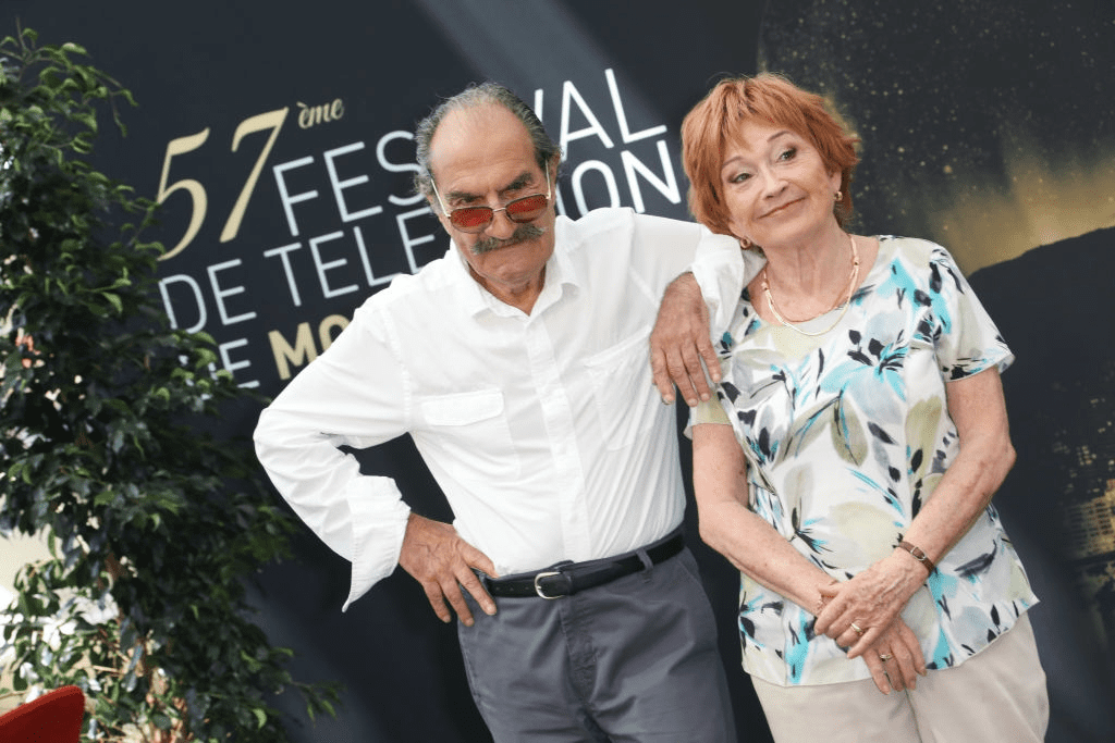 "Gérard Hernandez et Marion Game participent au photocall pour ""Scènes de Ménages"" le 17 juin 2017 au Grimaldi Forum à Monte-Carlo, Monaco. 