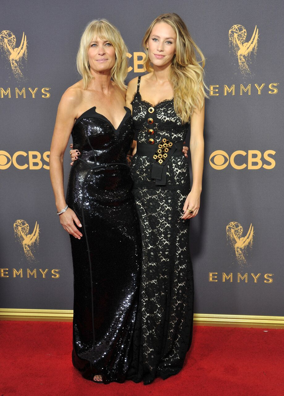 Robin Wright and Dylan Penn arrive at the 69th Annual Primetime Emmy Awards.   Getty Images
