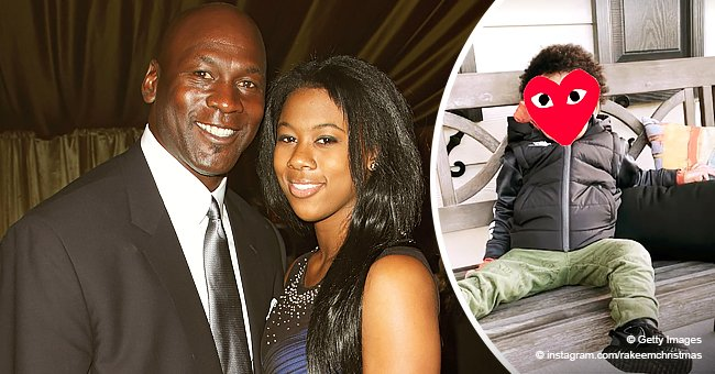 Michael Jordan's Daughter Shows Her Son Sitting in a Black Jacket & Pants, but Hides His Face