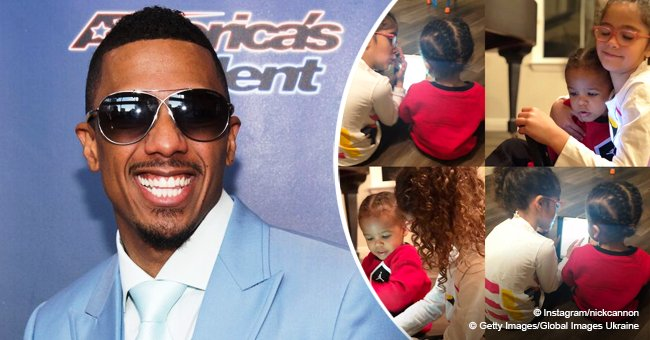 Nick Cannon steals hearts with photos of curly-haired daughter teaching her little brother