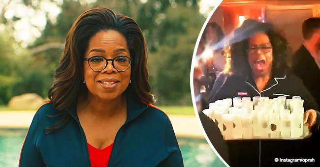 Video of Oprah handing out shots of tequila in her pajamas on a cruise ship wins the Internet