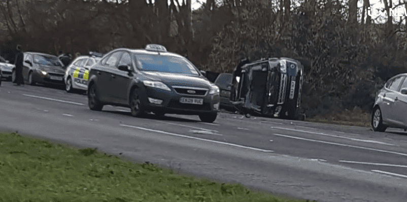 Prince Philip's crashed Land Rover - ITV News
