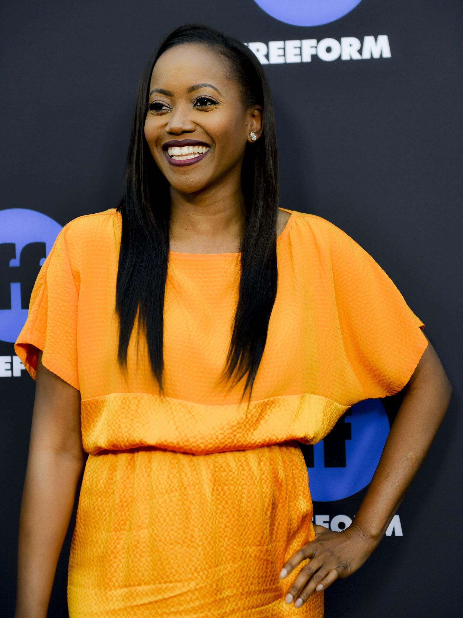 """Actress Erika Alexander of """"Beyond"""" arrives at Freeform Summit on January 18, 2018 in Hollywood, California. 