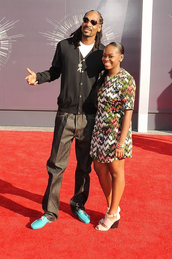 Recording artist Snoop Dogg (L) and Cori Broadus attend the 2014 MTV Video Music Awards at The Forum Aug 24, 2014 | Photo: Getty Images