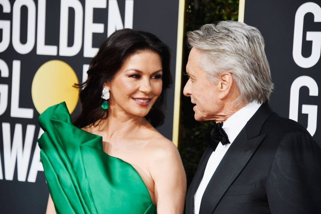 Catherine Zeta-Jones and Michael Douglas attends the 76th Annual Golden Globe Awards at The Beverly Hilton Hotel | Photo: Getty Images