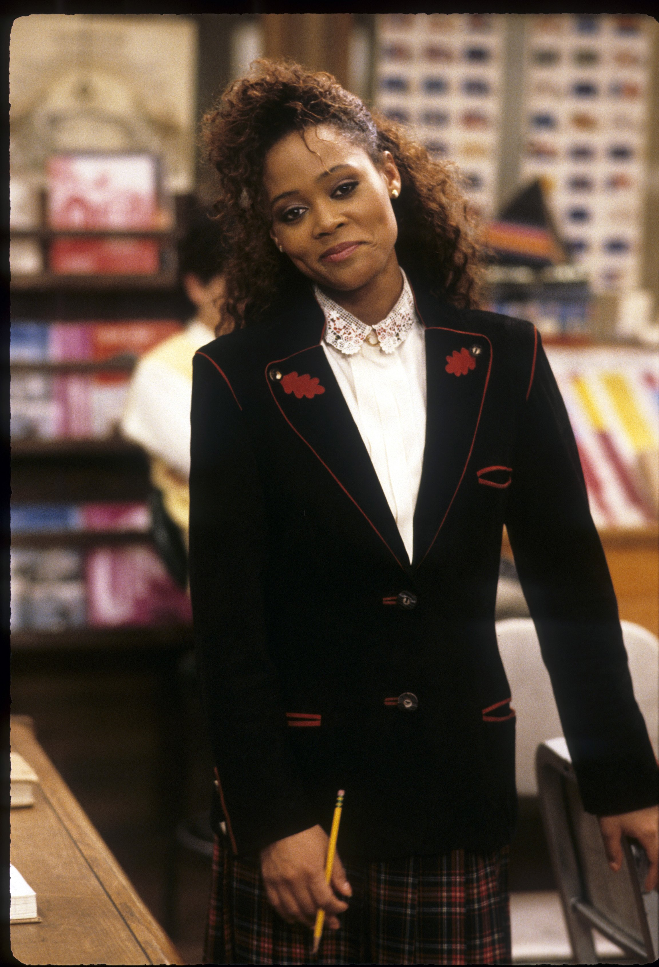 """A picture of Robin Givens playing Darlene in """"Head of the Class   Photo: Getty Images"""