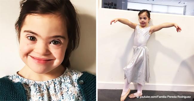 Niña de 7 años con síndrome de Down muestra increíble determinación y quiere ser bailarina