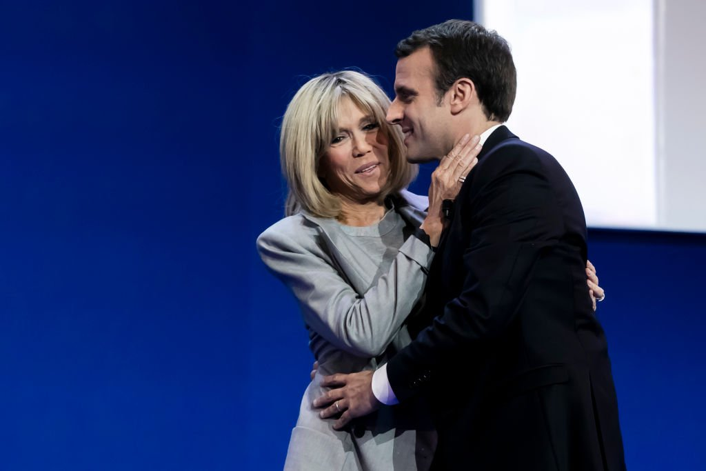 Brigitte et Emmanuel Macron à l'annonce des résultats du vote le 23 avril 2017. | Photo: Getty Images