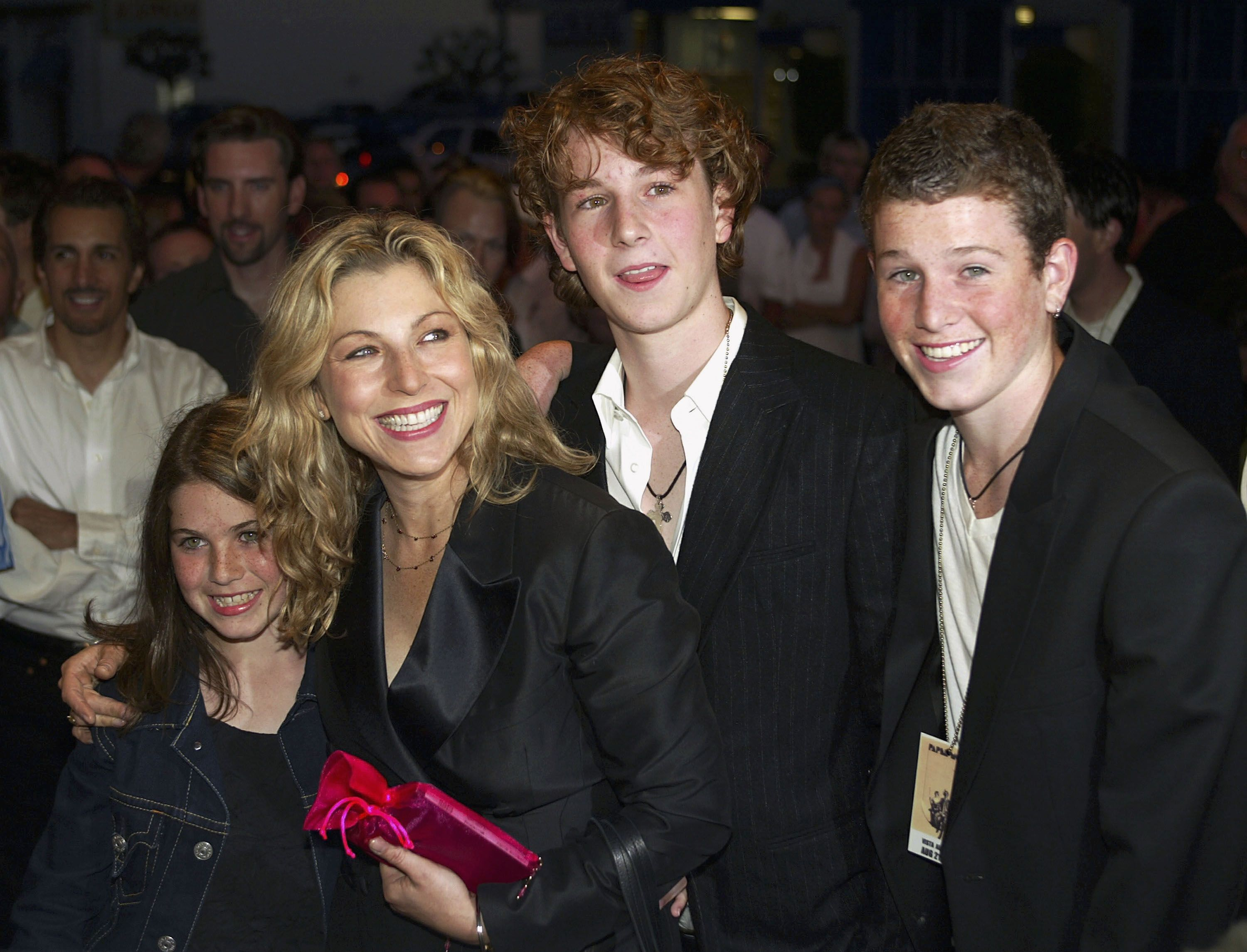 "Tatum O'Neal and her children Emily, Kevin and Sean McEnroe at the 30th anniversary screening of ""Paper Moon"" in 2003 in Los Angeles 
