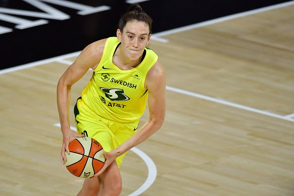 Breanna Stewart #30 during the second half of Game 3 of the WNBA Finals against the Las Vegas Aces at Feld Entertainment Center on October 06, 2020   Photo: Getty Images