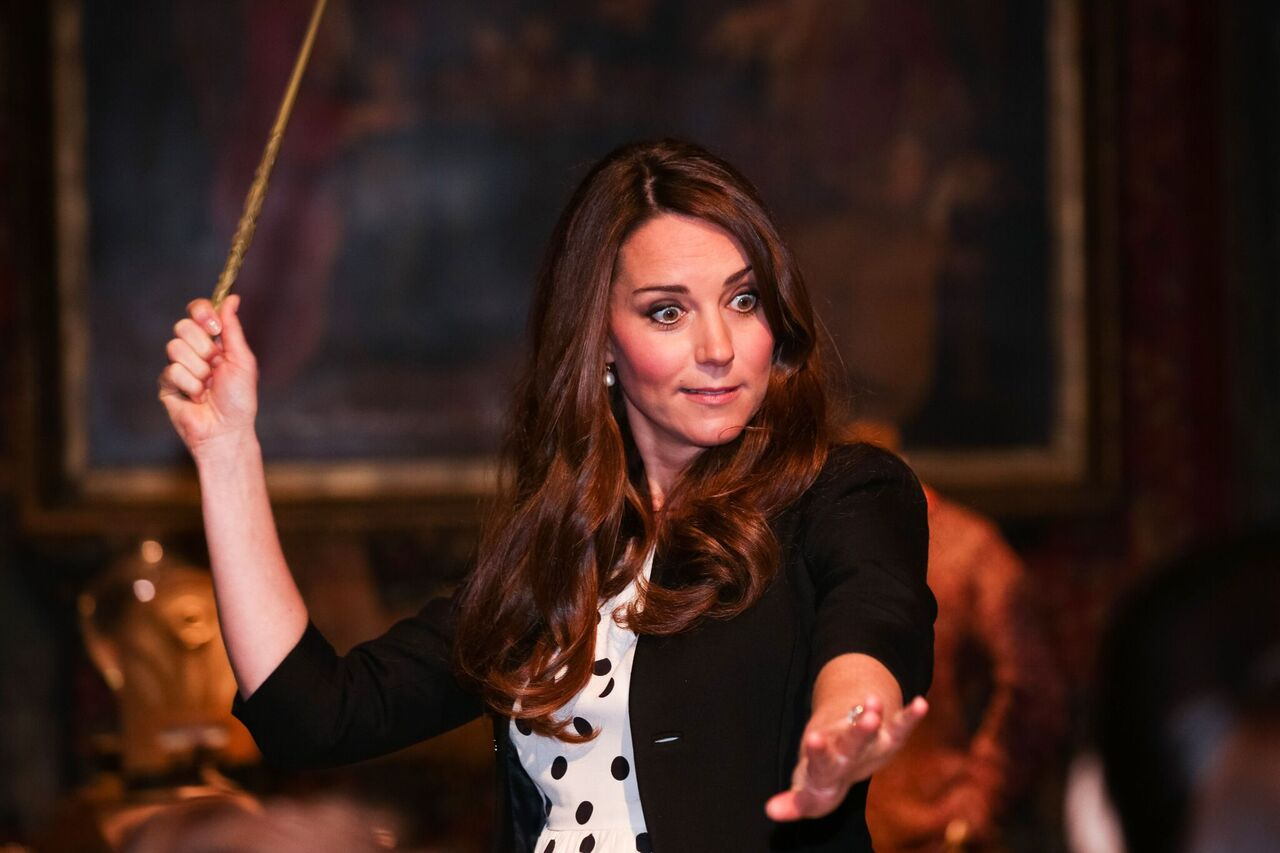 Kate Middleton attend the Inauguration of Warner Bros. Studios.   Source: Getty Images