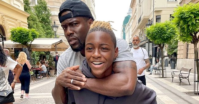 Kevin Hart Relishes Fatherhood Moment as He Gets a Piggy Back Ride from His Look-Alike Son Hendrix