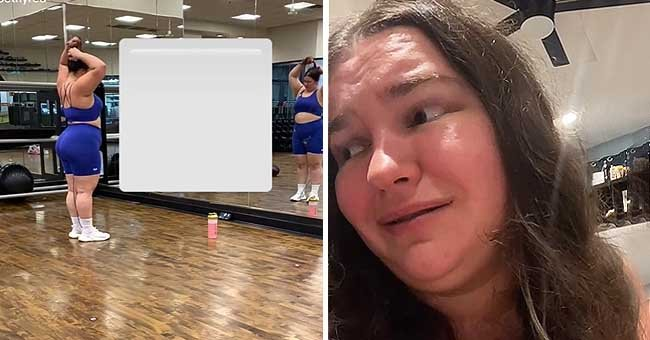 A woman mocked an influencer while she was making videos at the gym and she shared the experience online   Photo: Tiktok/@bethyred