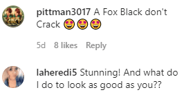 Users' comments on Momma Dee's stunning photo on Instagram. | Photo: instagram.com/tharealmommadee