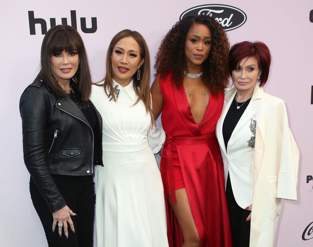 Marie Osmond, Carrie Ann Inaba, Eve and Sharon Osbourne pose on the red carpet at the 13th Annual Essence Black Women In Hollywood Awards Luncheon, on February 06, 2020 in Beverly Hills, California | Source: David Livingston/Getty Images
