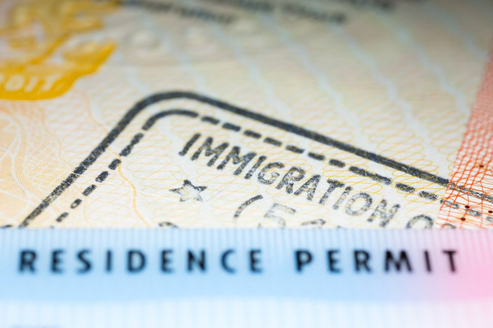 A close up view of an immigration permit.   Source: Shutterstock