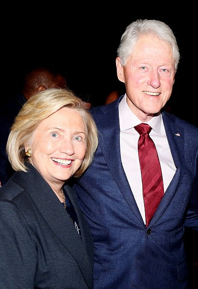 Hillary Clinton and Bill Clinton at The Lunt Fontanne Theatre on January 30, 2020 in New York City.   Photo: Getty Images