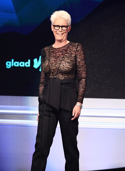 Jamie Lee Curtis speaks onstage during the 30th Annual GLAAD Media Awards | Photo: Getty Images