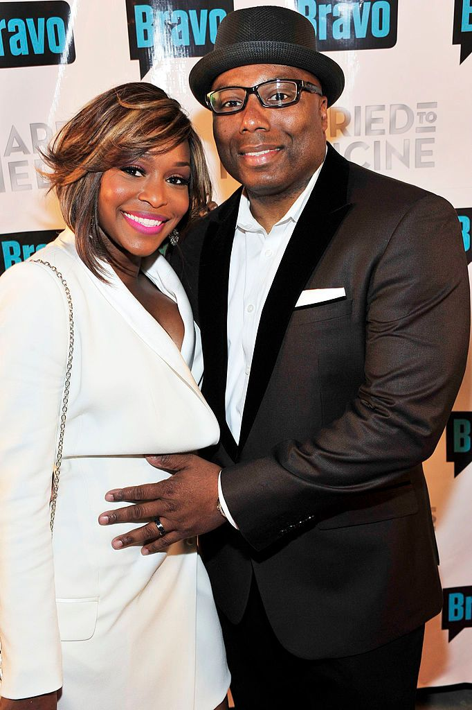 "Quad Webb and Dr. Gregory Lunceford at the ""Married To Medicine"" Season 2 Premiere at Shout Lounge on April 3, 2014 