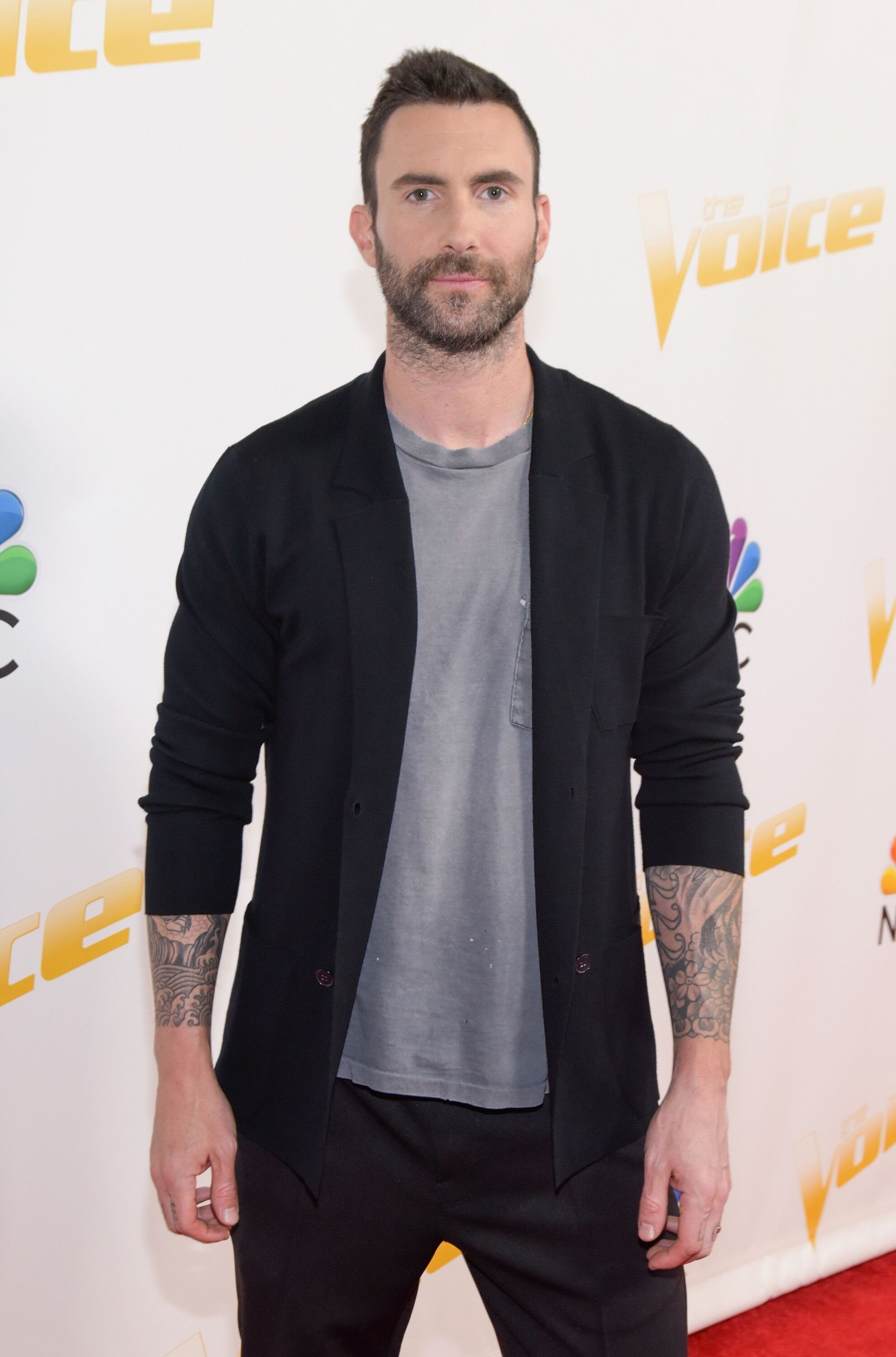 "Adam Levine attends NBC's ""The Voice"" taping. 