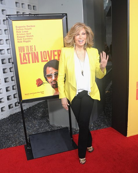 """Actress Raquel Welch at the Premiere Of Pantelion Films' """"How To Be A Latin Lover"""" on April 26, 2017   Photo: Getty Images"""