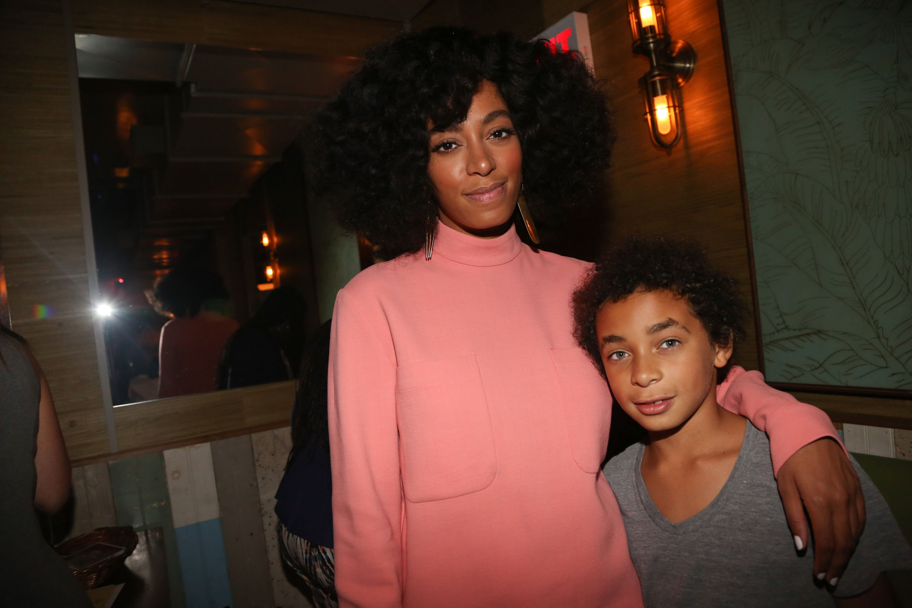 Solange and her son Daniel Julez J. Smith, Jr at the Solange and 14+ Foundation Partnership Party on May 4, 2014, in the Brooklyn borough of New York City | Photo: Johnny Nunez/WireImage/Getty Images