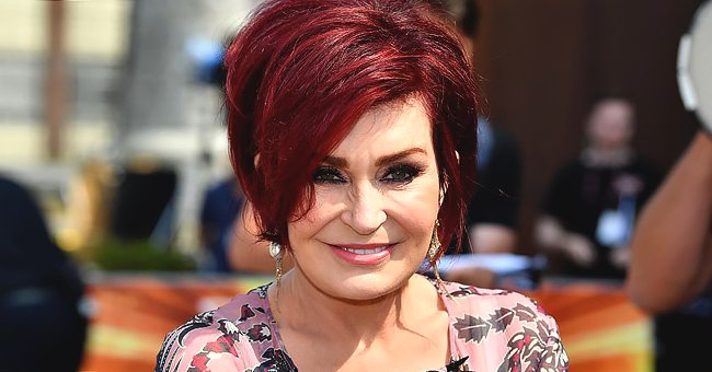Sharon Osbourne's Fans Love Her Bomb Makeup in a Sweet Snap of Her Cuddling up with a Puppy
